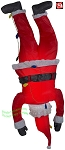 6 1/2' Airblown Inflatable Hanging Upside Down Santa