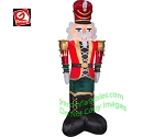 8' Gemmy Airblown Inflatable Mixed Media LUXE Nutcracker