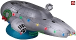 9' Gemmy Airblown Inflatable Star Wars Millennium Falcon w/ Light Strings