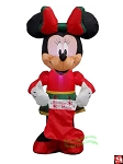 3 1/2' Gemmy Airblown Inflatable Minnie Mouse w/ Holiday Outfit
