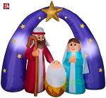 6 1/2' Gemmy Airblown Inflatable Mixed Media Nativity Scene