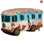 7 1/2' Gemmy Airblown Inflatable National Lampoons Christmas Vacation Cousin Eddie's RV