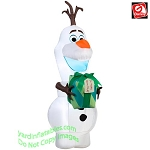 6' Airblown Inflatable Olaf w/ Gift