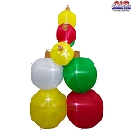 8' Air Blown Inflatable Pile of Christmas Ornaments