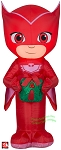 3 1/2' Airblown Inflatable PJ Masks Owlette Holding A Present