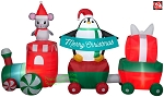 10' Gemmy Airblown Inflatable Merry Christmas Train Scene