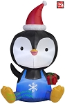 5' Gemmy Airblown Inflatable Big Head Penguin
