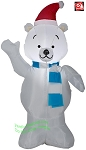 4' Gemmy Airblown Inflatable Christmas Polar Bear