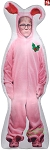 6' Gemmy Airblown Inflatable Photo Realistic Ralphie in Pink Bunny Costume