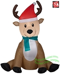 3 1/2' Gemmy Airblown Inflatable Christmas Reindeer