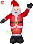 6' Airblown Inflatable Waving Santa