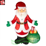 8 1/2' Gemmy Airblown Mixed Media Inflatable Lux Santa Claus