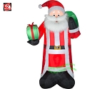 8' Gemmy Airblown Inflatable Mixed Media Santa Claus w/ Presents
