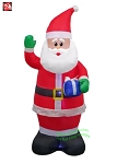 7' Gemmy Airblown Inflatable Santa Claus Holding Present