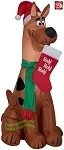 3 1/2' Gemmy Airblown Inflatable Scooby Doo Christmas Holding