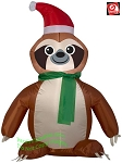 4' Gemmy Airblown Inflatable Christmas Sloth w/ Santa Hat