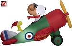 4 1/2' Gemmy Airblown inflatable Snoopy in Airplane w/ Woodstock