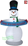 8' Gemmy Animated Airblown Inflatable Snowman w/ Banner