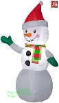4' Airblown Inflatable Snowman w/ Santa Hat and Scarf
