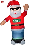 6' Gemmy Airblown Inflatable Animated Swaying Santa w/ Headphones