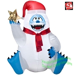 3' Gemmy Airblown Inflatable Christmas Bumble Abominable Snowman Holding a Star