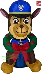 3' Paw Patrol Chase Police Dog w/ Christmas Wreath