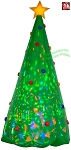 8' Gemmy Airblown Inflatable KALEIDOSCOPE Green Christmas Tree