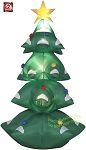 6' Gemmy Airblown Inflatable Christmas Tree w/ Star & Ornaments