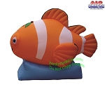 5 1/2' Air Blown Inflatable Christmas Clownfish