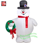 3 1/2' Frosty The Snowman Holding A Wreath