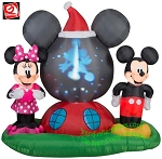 6' Gemmy Airblown Inflatable Panoramic Projection Mickey Mouse Clubhouse Scene