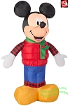 3 1/2' Mickey Mouse in Christmas Outfit