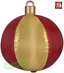 2 1/2' Gemmy Airblown Inflatable Red and Gold Ball Ornament