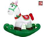 6' Gemmy Airblown Inflatable Christmas Rocking Horse