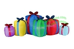 8' Air Blown Inflatable Row of Christmas Presents