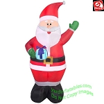 6 1/2' Gemmy Airblown Inflatable Santa Holding Present