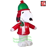 3 1/2' Snoopy Wearing Winter Gear