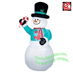 12' GIANT Snowman w/ Candy Cane