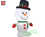 3 1/2' Gemmy Airblown Inflatable Big Head Snowman Standing