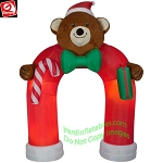 11' Gemmy Airblown Inflatable ANIMATED Plush Teddy Bear Archway w/ Wiggling Bow Tie