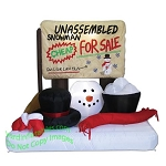 4 1/2' Air Blown Inflatable Unassembled Snowman Scene