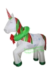 6' Air Blown Inflatable Christmas Unicorn