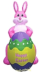 8' Air Blown Inflatable Easter Bunny Holding Egg