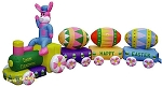 14' Air Blown Inflatable Easter Bunny Eggspress Train