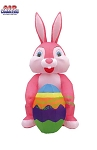 12' Air Blown Inflatable Pink Easter Bunny w/ Easter Egg