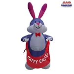 12' Air Blown Inflatable Easter Bunny Holding