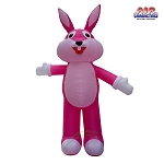 12' Air Blown Inflatable Pink Easter Bunny