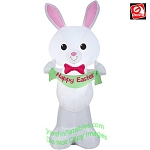 4' Gemmy Airblown Inflatable Standing White Easter Bunny