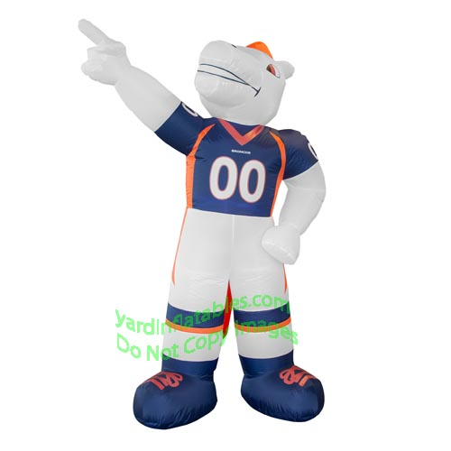7' Air Blown Inflatable NFL Denver Broncos Thunder Mascot