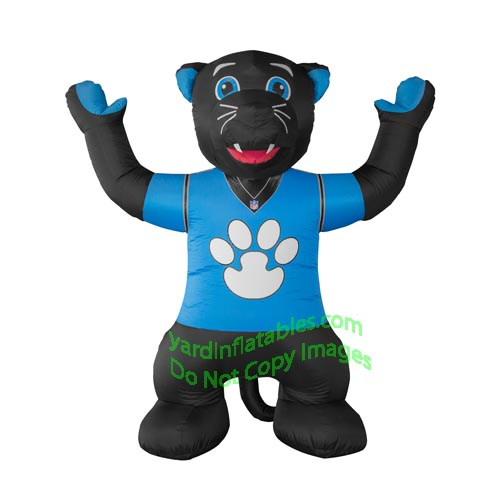 7' Air Blown Inflatable NFL Carolina Panthers Sir Purr Mascot